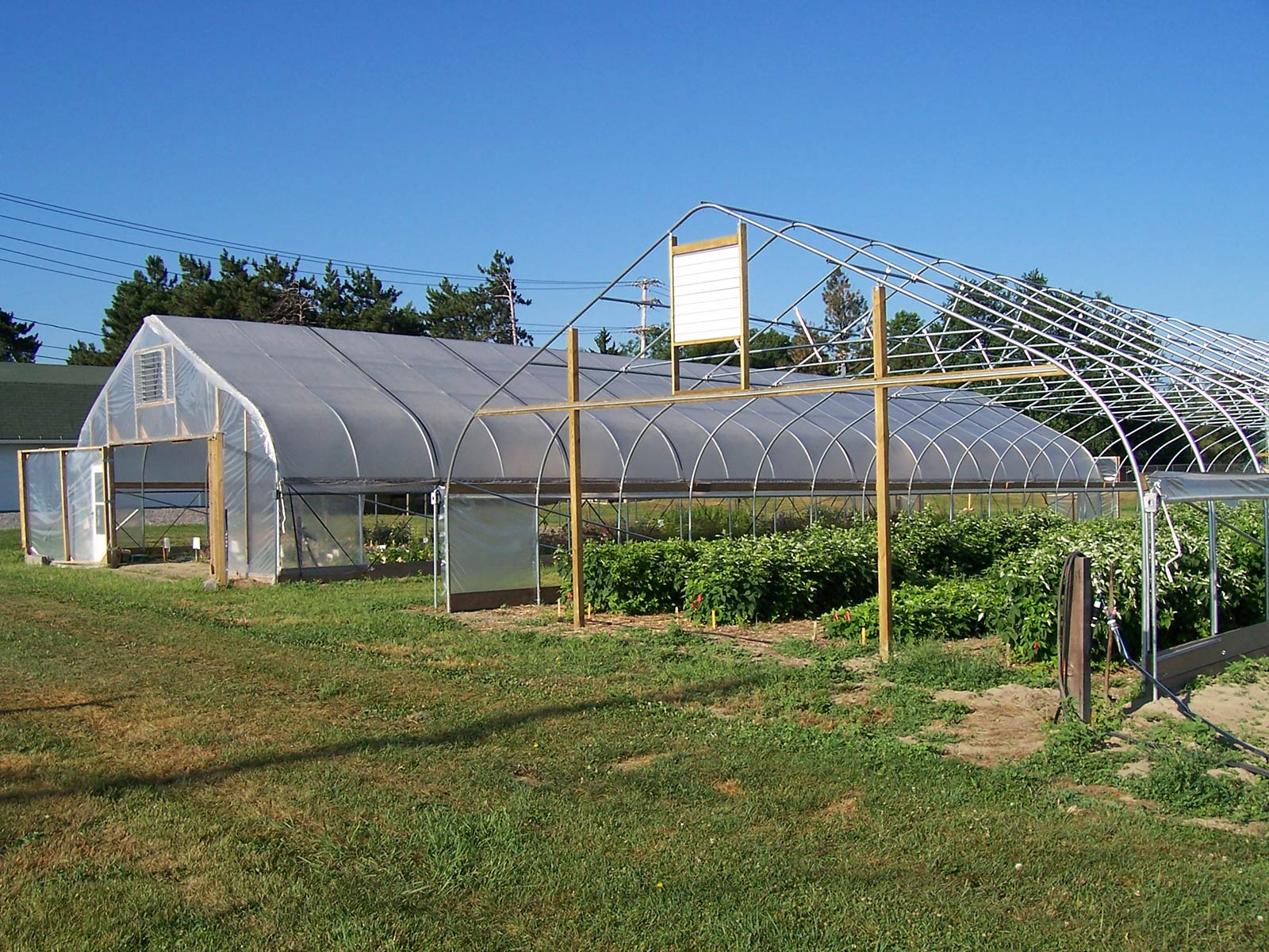 High Tunnel on Pvc Hoop Greenhouse Plans