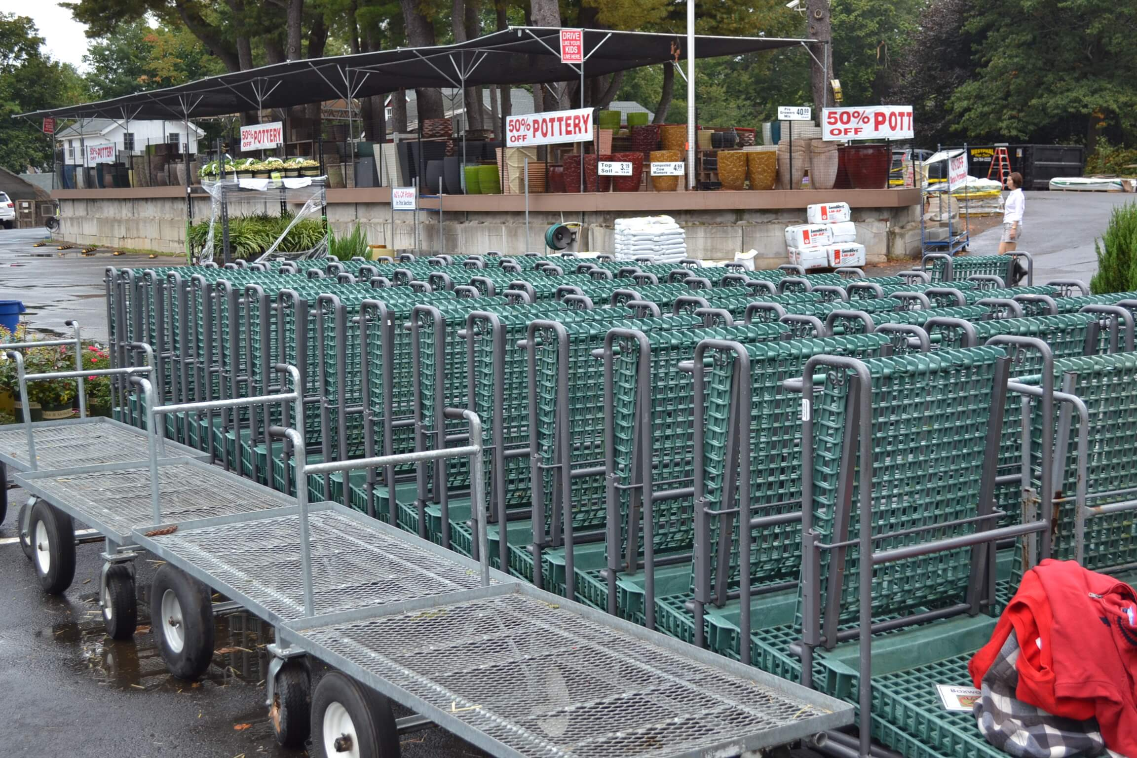 Garden center carts make for a better shopping experience.
