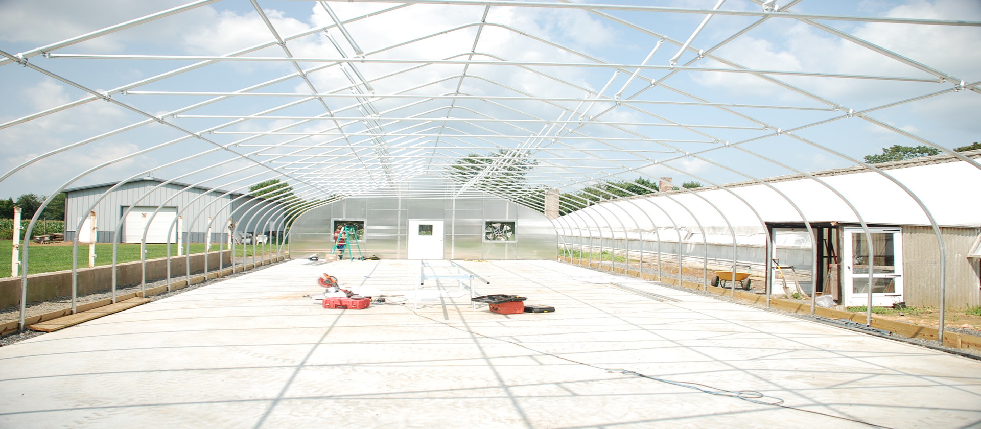 Highpoint Nor'Easter Greenhouses for Cannabis Production by Rimol