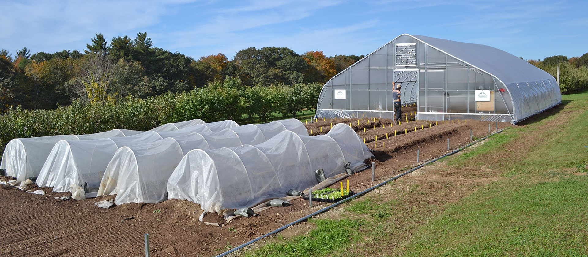 Rolling Thunder greenhouses by Rimol