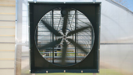 Size Greenhouse Fans & Shutters